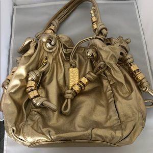 Gold Michael Kors Shoulder Bag
